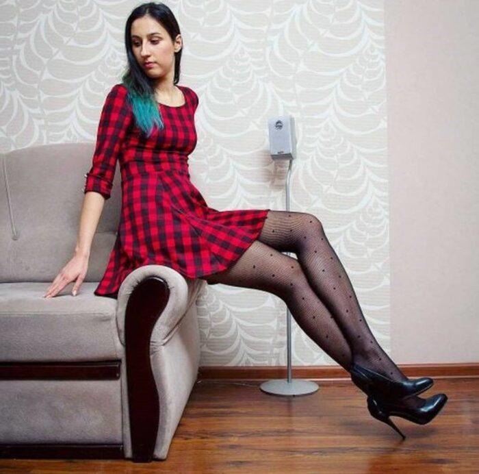 Stunning nylon girl